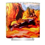 Provence In The Summer Shower Curtain