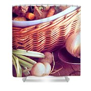 Provence Kitchen Shallots Shower Curtain