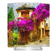 Provence Street Shower Curtain