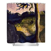 Provence Tree Shower Curtain