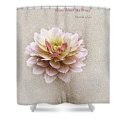 Proverbs 17 V 22 Floral  Shower Curtain