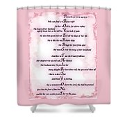 Proverbs 31 Acrostic Shower Curtain