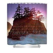 Proverbs102 Shower Curtain
