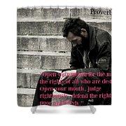 Proverbs103 Shower Curtain