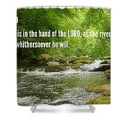 Proverbs107 Shower Curtain