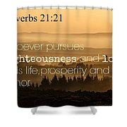 Proverbs109 Shower Curtain