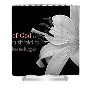 Proverbs112 Shower Curtain