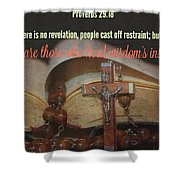 Proverbs113 Shower Curtain