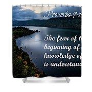 Proverbs114 Shower Curtain