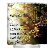Proverbs115 Shower Curtain