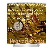 Proverbs117 Shower Curtain