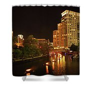 Providence Waterfire Shower Curtain