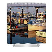 Provincetown Fishing Boats, Ptown, Ma Shower Curtain