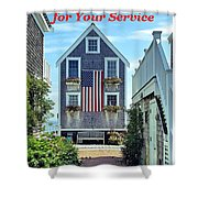 Provincetown Patriot By Sharon Eng Shower Curtain