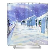 Provincetown Winter Shower Curtain
