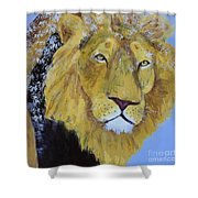 Prowling Lion Shower Curtain