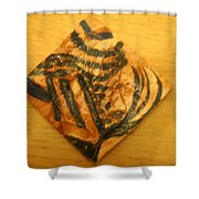 Prudence - Tile Shower Curtain