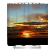 Prudhoe Bay Sunset Shower Curtain