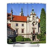 Pruhonice Castle  Shower Curtain