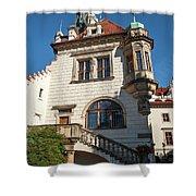 Pruhonice Castle Side View Shower Curtain