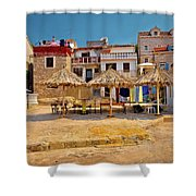 Prvic Luka Waterfront Architecture View Shower Curtain