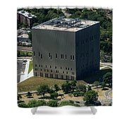 Psac II Building In Nyc Shower Curtain