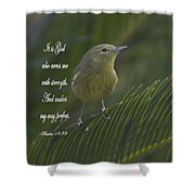 Psalm 18 V 32 Shower Curtain