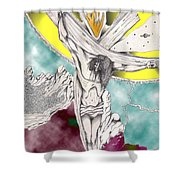 Psalm 22 Ch 13-15... Shower Curtain