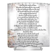 Psalm 34 Pg 2 Shower Curtain