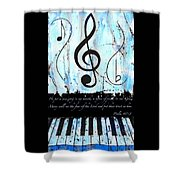 Psalm 40/3 Blue Shower Curtain