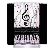 Psalm 40/3 Purple Shower Curtain
