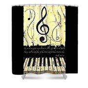 Psalm 40/3 Yellow Shower Curtain
