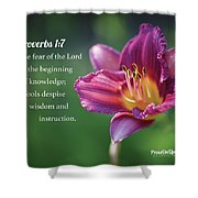 Proverbs One Seven Shower Curtain