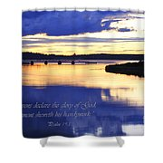 Psalm Reflected At Acadia National Park Two Shower Curtain