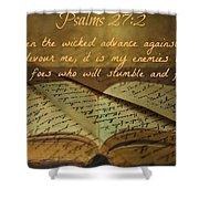 Psalms101 Shower Curtain