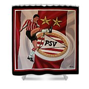 Psv Eindhoven Painting Shower Curtain