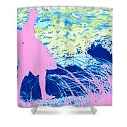 Psychadelic  Beach Shower Curtain