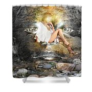Psyche-2 Shower Curtain