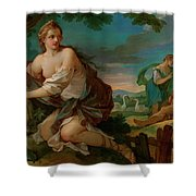 Psyche Gathering The Fleece Of The Rams Of The Sun Shower Curtain