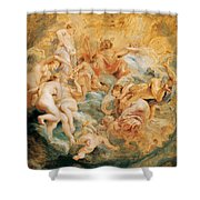 Psyche Taken Up Into Olympus Shower Curtain