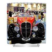 Psychedelic 1947 Delahaye 135m Letourner Et Marchand Cabriolet Shower Curtain