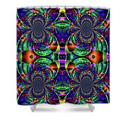 Psychedelic Abstract Kaleidoscope Shower Curtain