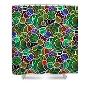 Psychedelic Circles Shower Curtain