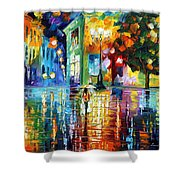 Psychedelic City Shower Curtain