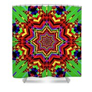 Psychedelic Construct Shower Curtain