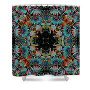 Psychedelic Daisies Shower Curtain