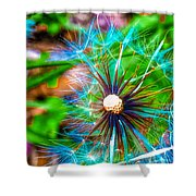 Psychedelic Dandelion Shower Curtain