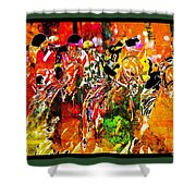 Psychedelic Derby Shower Curtain