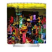 Psychedelic  Dubai Art Shower Curtain