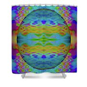 Psychedelic Egg Groovy Shower Curtain